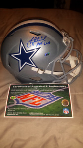 Troy Aikman signed, inscribed & authenticated helmet