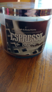 Used bath and body works 3 wick candle