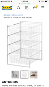 IKEA wire drawer rack