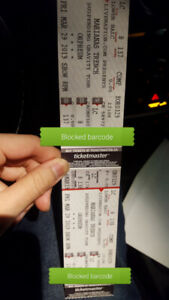 2 Marianas trench tickets Mar29 same row/section