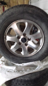 Alloy Rims with tires 215 70 15