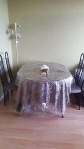 MOVING SALE - Dining table with chairs