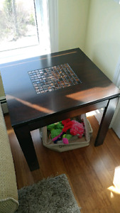 Two end tables and a coffee table