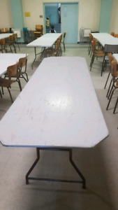 Free 30 tables 8ft X 30 inch wide.