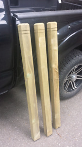 """Several Brand New - 48"""" Pressure Treated Deck Posts"""
