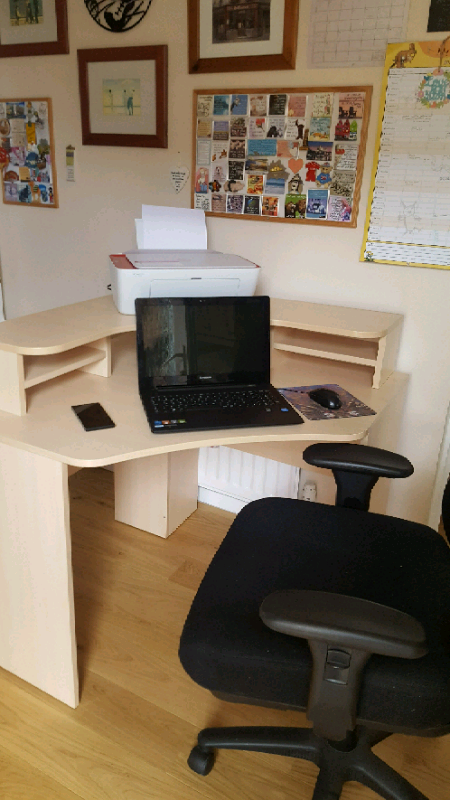 Corner Desk Fully Adjule Office Chair In Darlington County Durham Gumtree