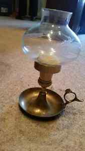 Old vintage brass metal glass globe candle holder only 5$....... London Ontario image 1