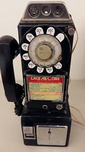 telephone payant antique retro 1950