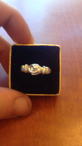 Size 8 Solid Sterling Silver Ring