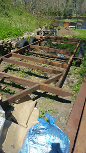 Old travel trailer frame
