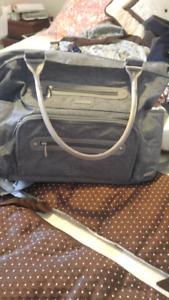 JJ Cole diaper bag Caprice Heather grey colour
