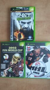 Jeux XBOX - NLH - FIFA - SPLINTER CELL