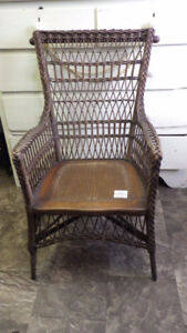 RARE! Beautiful Antique Windsor NS Wicker Chair -great condition