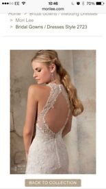Wedding dress Morilee 2723 Ivory lace and crystal beading. Size 6