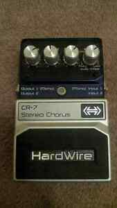 HardWire CR-7 stereo chorus electric guitar effects pedal
