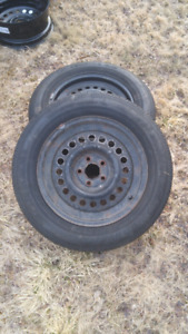 2 all seasons with rims - 195/65R15