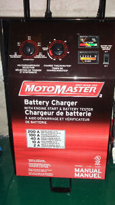 Selling a Motomaster battery charger. Used once, works perfectl