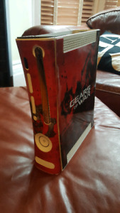 Xbox 360 with gears skin (RED RINGED)