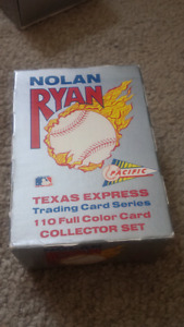 Nolan Ryan texts express  baseball cards