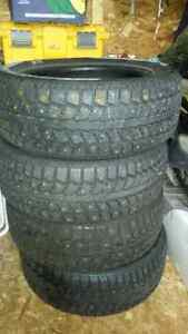 Uniroyal studded winter tires.