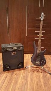 Bass Ibanez Active Sr400 + Combo Peavey 112MAX