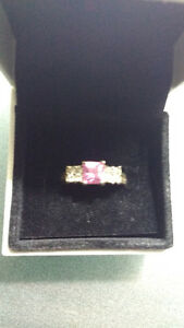 Silver Ring with Pink Stone!