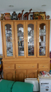 Dining room display case and drawers in surrey