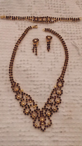 Vintage Black diamond gold set