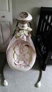"Fisher Price ""My Little Snuggabunny"" baby swing"