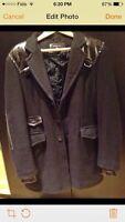 Rudsak Warm Dark Brown Wool Coat (size M)