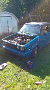Vw cabrio 1986 g60 turbo 3000$