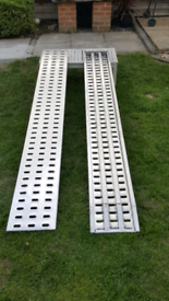 New 2x2.5m Aluminium loading ramps for recovery trucks/ plant trailer.