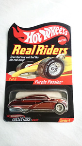HOT WHEELS PURPLE PASSION REAL RIDERS RLC CAR DIE CAST MINT #2/6