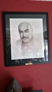 this printed and framed picture of SEAN CONNERY to sue on plaqu