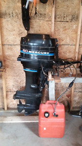 50 hp Mercury outboard motor /electric starter for parts or fix