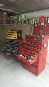 RETIRED AUTO MECHANIC TOOLS BOX AND TOOLS