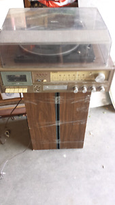 York record player and speakers