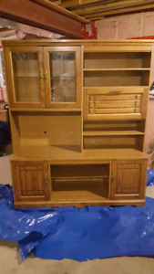 Brown hutch cabinet