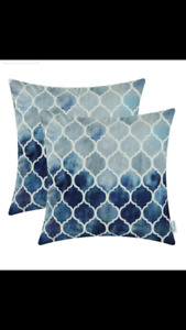 Blue and Grey Pillow Covers