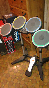 Garage Band drums, guitar, and mic