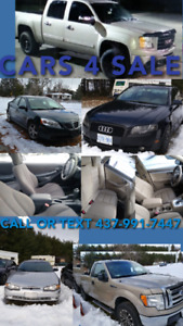 NEW YEARS PRICES -CARS TRUCKS SUV MOTORCYCLES SLED AND MORE