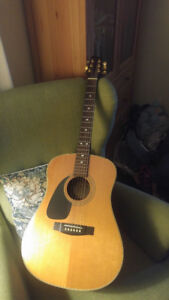 Guitare gauchere, left handed acoustic guitar