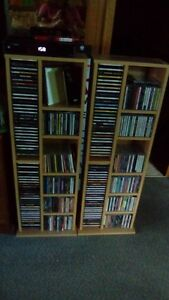 2 CD Stands Roughly 300 CD'S Included