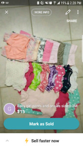 Baby girls clothes size 0-3 months. Like new! Almost never worn