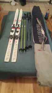Skis,Poles,Bindings and Carry Bag-ALL FOR $50