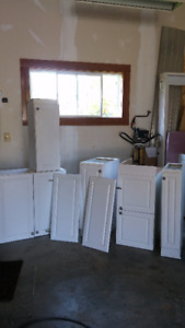 White cupboards cabinets