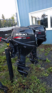 Suzuki 30HP Tiller Trim Outboard Motor Lease Returns