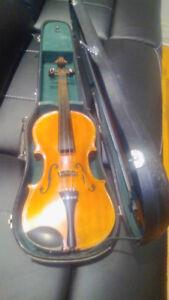 Antique copy of Antonius Stradivarius violin made in Czechoslov