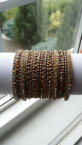 "INDIAN BANGLES - BRAND NEW SETS - SIZES 2.4"" and 2.6"""