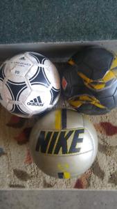 Three Soccer Balls Nike/Adidas